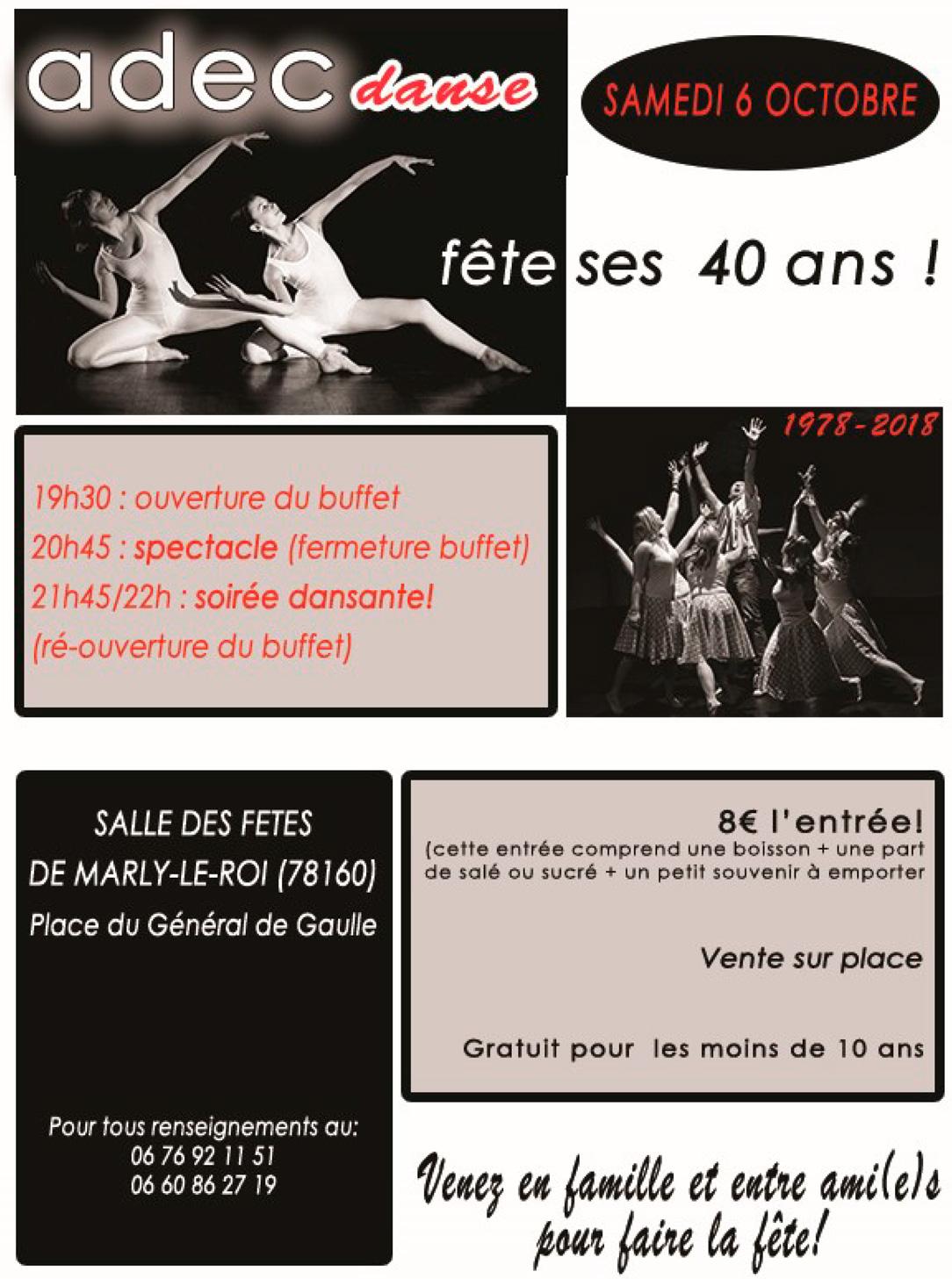 ADEC danse fête ses 40 ans samedi 6 octobre