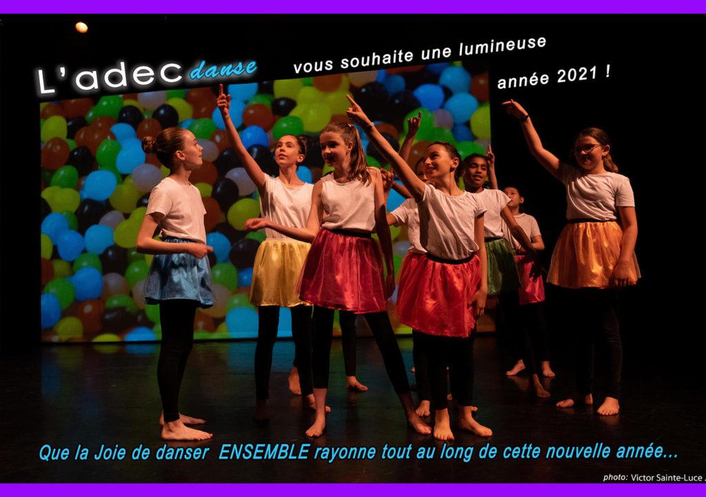 L'Adec-Danse vous souhaite une lumineuse année 2021 !